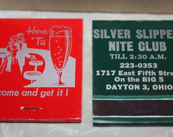 Vintage Matchbooks, Nightclub in Dayton, Ohio, 42-Piece Set