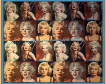 Marilyn Monroe Fabric - 56 Inch Width - by the Half-Yard or Yard