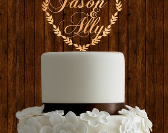 Names cake topper, personalized cake topper, custom cake topper, rustic cake topper, wood cake topper, unique cake topper, diy cake topper