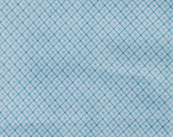 Blue Diamond Print Flannel Baby Blanket