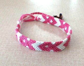 Breast Cancer Awareness Bracelet / All Proceeds WILL Be Donated