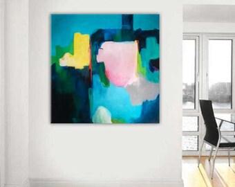 Contemporary wall art, original fine art print, giclee abstract print oil painting original, large abstract painting, canvas painting, print