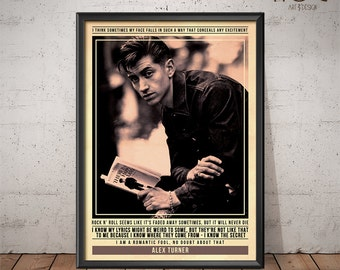 Alex Turner - Arctic Monkeys Poster - Quote Retro Music Poster - Music Print, Wall Art