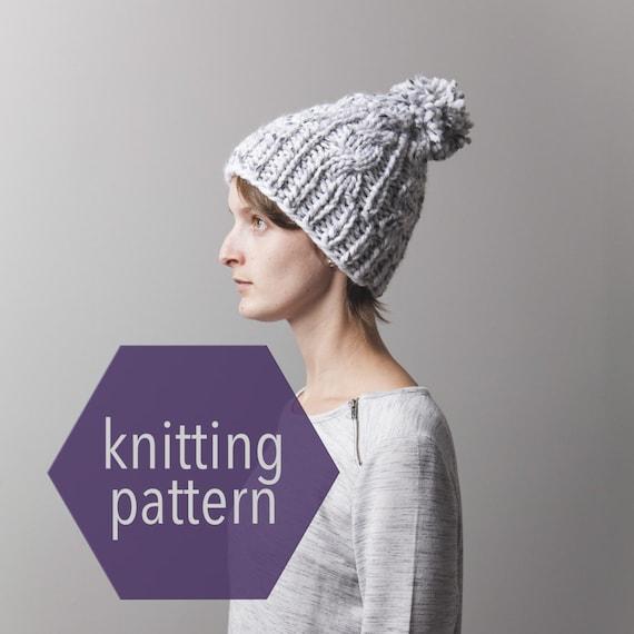 Knitting Circle Toronto : Chunky knit cable slouchy beanie knitting pattern