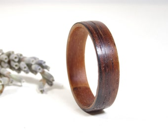 Wood rings from RoseWood with inside from walnut  // wooden ring // Engagement ring // wedding wooden ring // bohemian jewelry