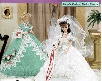 My Sister's Wedding Thread Crochet fashion doll dress pattern, fits Barbie dolls. Design by Blanche Birch; The Needlecraft Shop 201011.