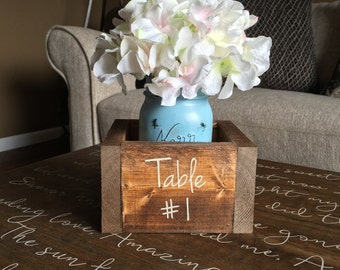 Wedding Table Numbers | Table Centerpiece Floral | Table Center Pieces |  Mason Jar Decor |