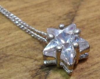 Sparkling Star CZ Necklace