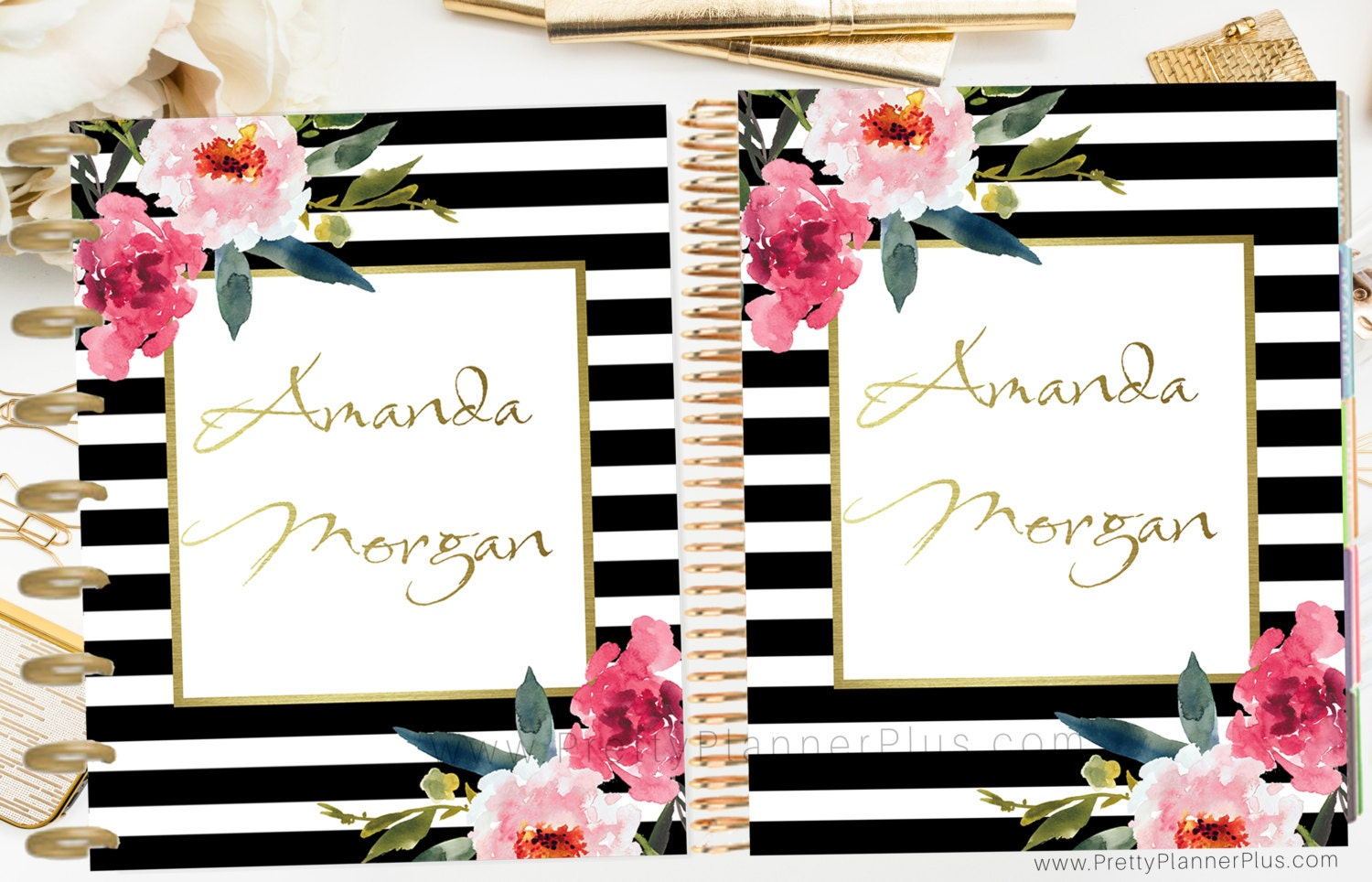 Custom printable planner cover set for use with erin condren for Custom photo planner