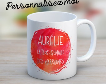 A custom mug watercolor with your text effect