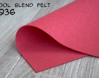 Wool Blend Felt Coral