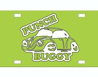 Punch Buggy, VW, Bug, Volkswagen, Metal, License Plate
