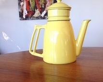 Mid Century cast iron - enamel - drip coffee pot - Descoware