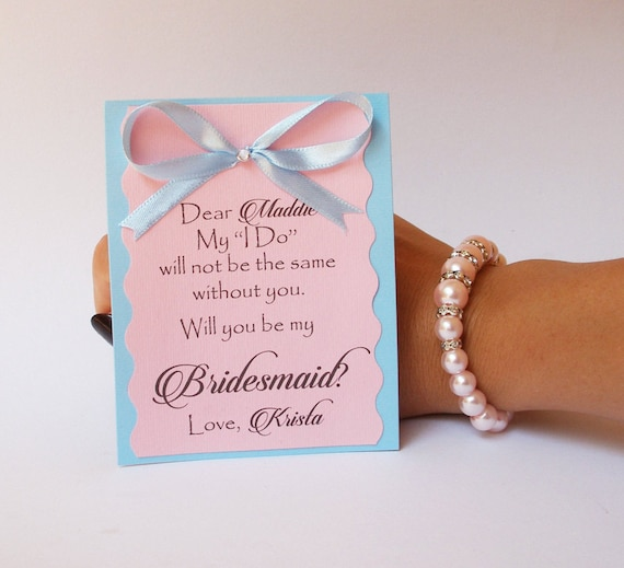 Will You Be My flower girl card and bracelet Cards I Can't Even Without You  Maid of Honor Wedding Party Cute Card to Ask Bridesmaid
