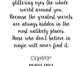 Roald Dahl Quote Print