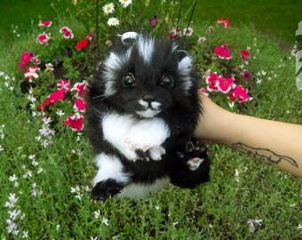 Poseable Art Doll Baby Skunk OOAK