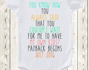 Funny Pregnancy Announcement for parents Baby Announcement Idea Pregnancy reveal gift Grandparents Grandma and Grandpa ONESIE ® brand shirt