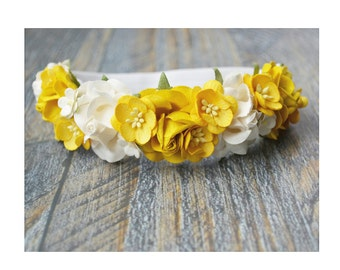 Yellow floral crown