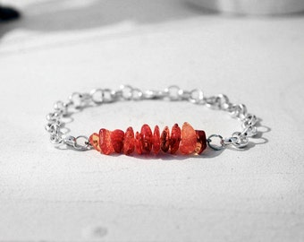Amber Bracelet, Amber Gift, Real Amber Bracelet, Silver Colored
