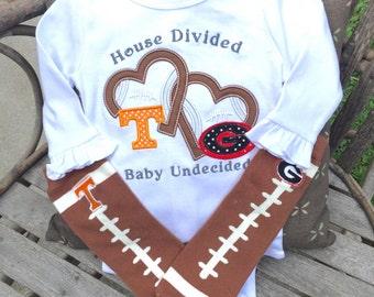 Tennessee Baby | UT outfit | Volunteer Baby | Tennessee Onsie | Tennessee Girls | Georgia Baby | Girl's Football Set | UT Vols | Baby Vol
