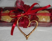 Burgundy Gift Set for Women with Luxury Scented Soaps & a Gold-Red Handmade Jewelry Necklace:Ideal for Valentine,Feast,Birthday,Mother's Day