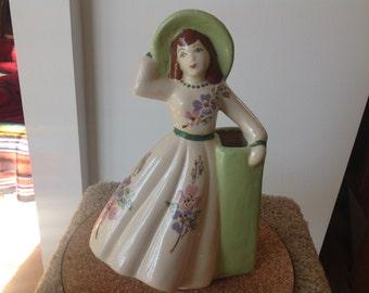 Vintage Weil Ware Southern Belle ceramic vase