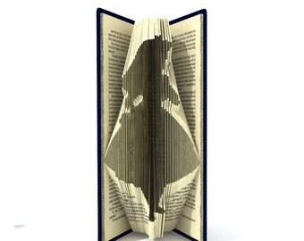 Book folding pattern - Alice in Wonderland - 124 folds + Tutorial with Simple pattern - Heart - SH0201
