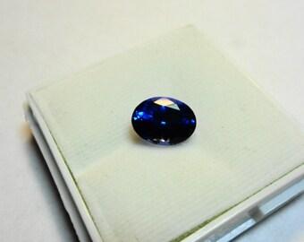 Inky Blue D Block Tanzanite 3.36ct. Oval 10 x 7.5mm