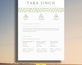 """Resume   Elegant Resume Design   Creative CV Design + Cover Letter + CV Guide + References for MS Word   Download   Word Resume  """"Berkeley"""""""""""