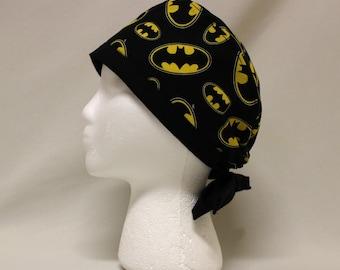 Batman Batsignal Logo Surgical Dentist Scrub Cap Chemo Hat