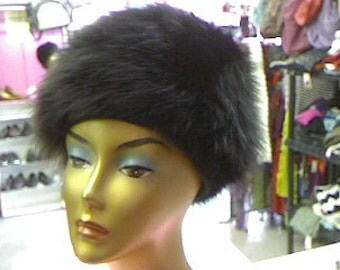 Vintage Black Mink Hat by Mr. Stan Lee Original
