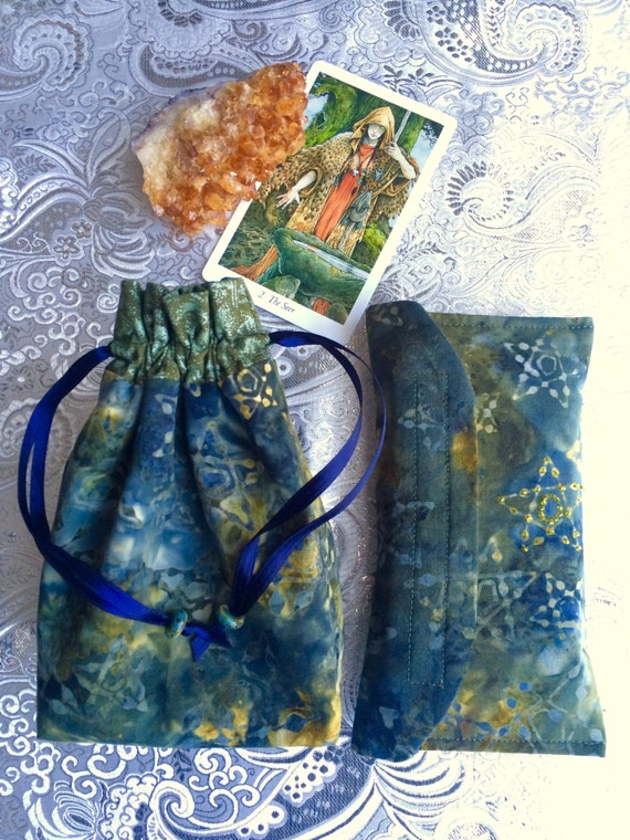 Tarot Bags Tarot Cards Cloths More: Tarot Wallet Tarot Bag Medicine Bag Drawstring By