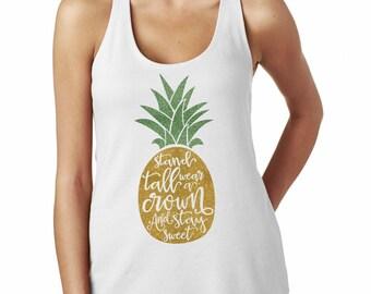 Pineapple Shirt - Pineapple Quote Glitter Shirt