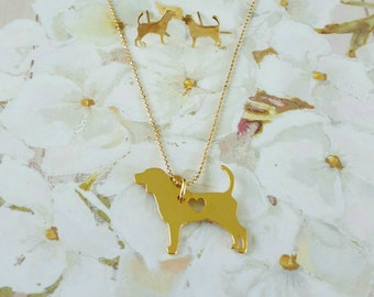 BEAGLE NECKLACE !! BeagleLovers, Gold Necklace, dog lovers, Pawies, PawiesAnimalLovers, cute Necklace, Pendant Necklace