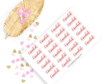 canceled sticker, life planner sticker for kikki k, filofax or erin condren