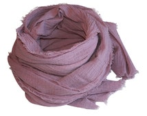 Rose Quartz Hand-Dyed Cotton Scarf / Women's Scarf / Women's Spring Scarf / Women's Cotton Scarf / Pink Scarf / Over-Sized Scarf