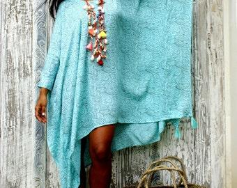Tassel Dress/Poncho Tassels/Short dress tassels/Summer poncho/Beach Wear * LOOSE PONCHO REGINA