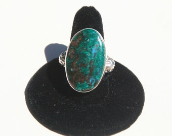 Azurite & Sterling Silver Ring ~ Size 10