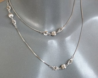 Necklace silver 835 with balls 50s SK987