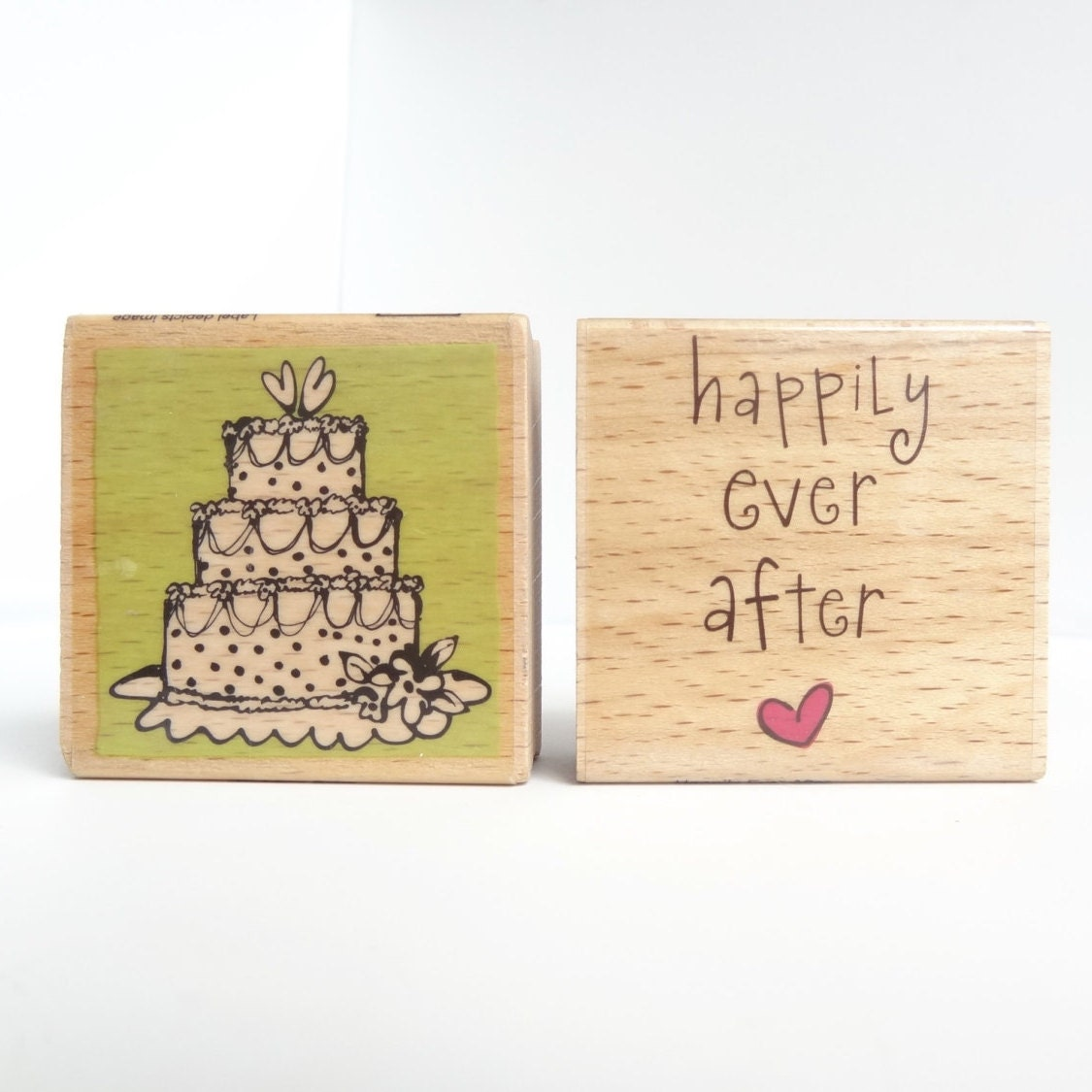 Wedding Rubber Stamps Wedding Cake Stamp Happily Ever After