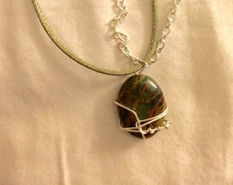 African Green Opal Necklace