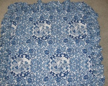 Ralph Lauren standard sz. ruffled Tamarind pillow sham blue and white