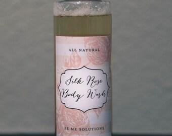 Organic body wash, rose scented body wash, skin smoothing body wash, natural body wash, skin tightening, castile soap
