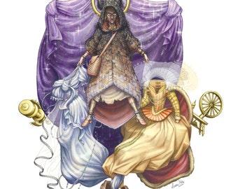 Fairy Tale Art Print: All Fur
