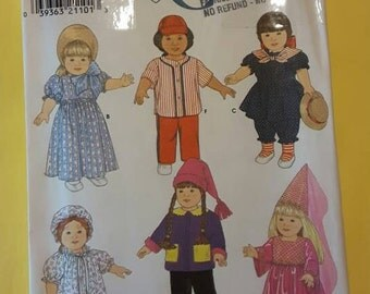 """18"""" doll Clothing Sewing Patterns Simplicity 7949  Six Outfits"""