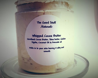 Whipped Cocoa Butter- Raw Cocoa Butter- Organic Cocoa Butter- Coconut oil- Pure Cocoa Butter- Unrefined Cocoa Butter - Raw Shea Butter