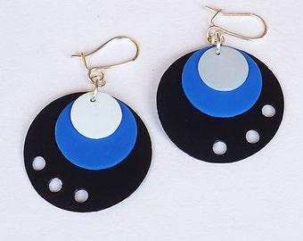 RecuperArte Peacock: recycled plastic bottles earrings