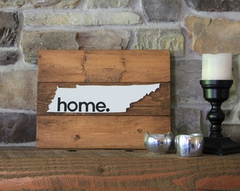 Tennessee Sign - Home Sign - State Sign -Rustic Home Decor - State Art - Rustic Sign - Home State - Wood Sign - Rustic Wood Signs -