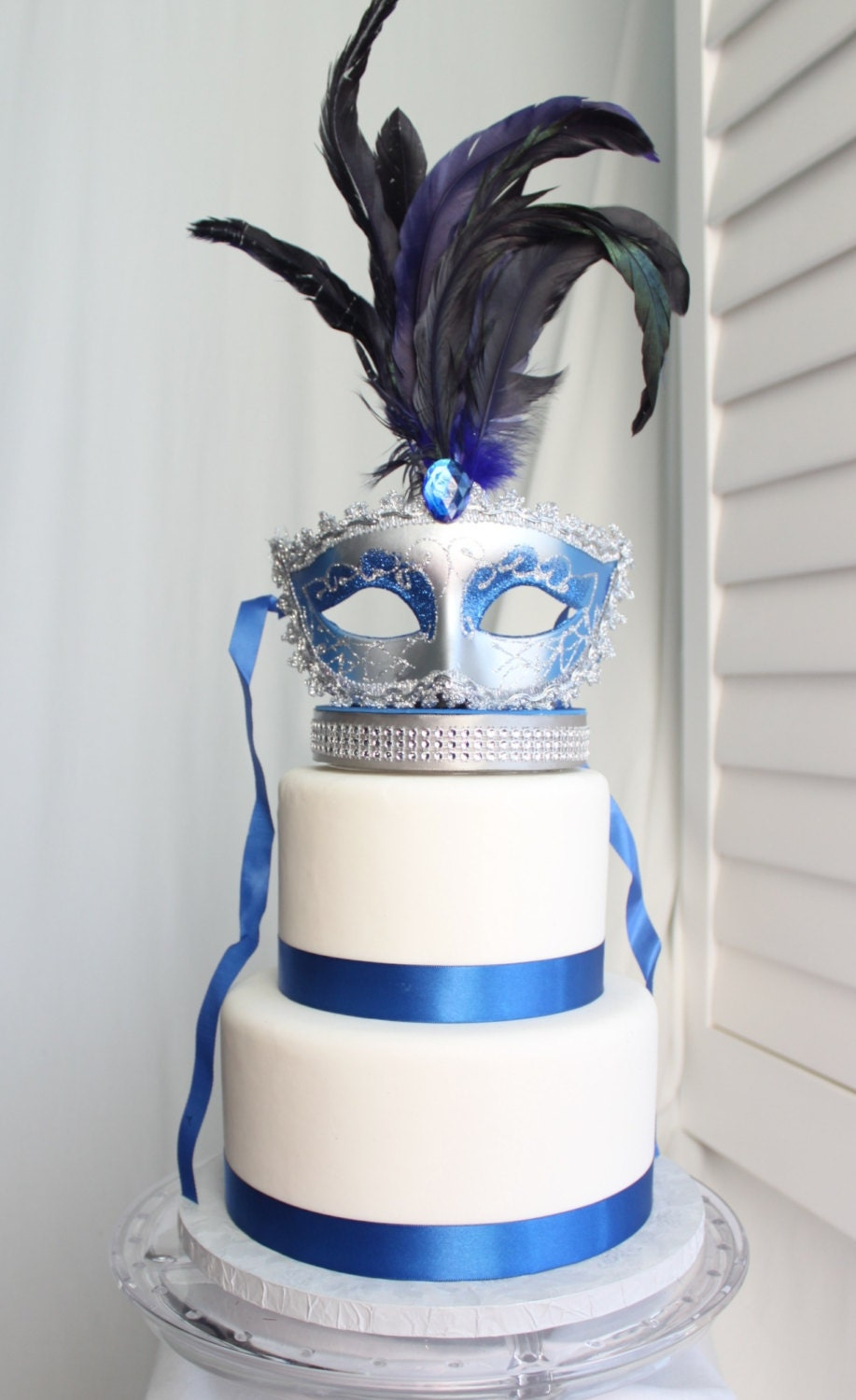 Masquerade Birthday Cake Toppers