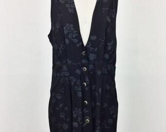 Deep V Rayon Dress
